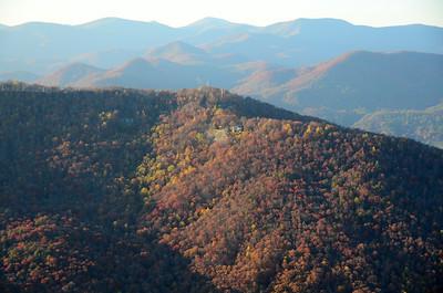Black Rock Mountain State Park and surrounding mountains, Clayton, Georgia