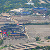 Citi Field, Home of the NY Mets wih Arthur Ashe Stadium, home to the USTA US Open, and the World's Fair Park Globe.