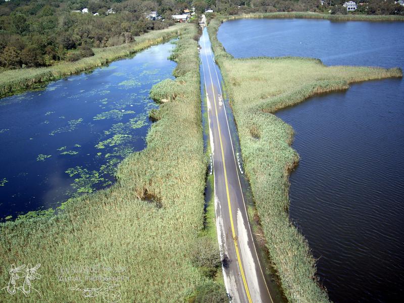 A flooded Bonnet causeway.