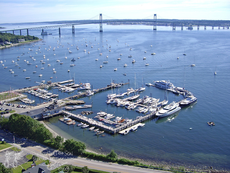 Conanicut Marina and Newport Pell Bridge