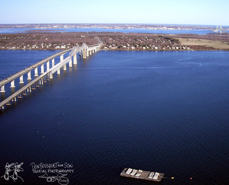Jamestown Verrazzano Bridge and old Jamestown Bridge