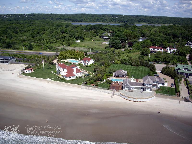 Houses on Narragansett Town Beach