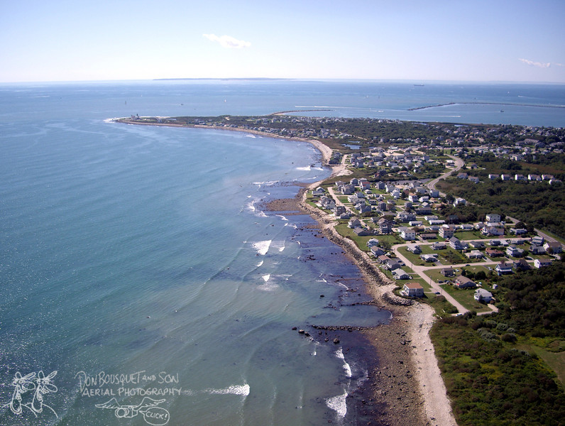 Point Judith, with Block Island on the horizon