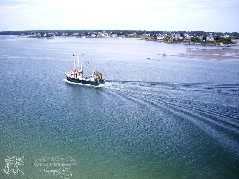 Fishing boat in Point Judith Pond