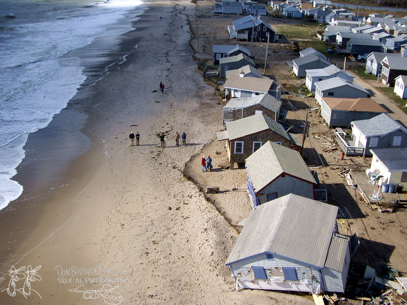 Roy Carpenter's area after Hurricane Sandy