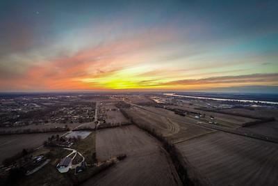 Aerial - Sunset