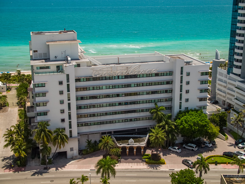 Casablanca Hotel on the beach Miami aerial photo
