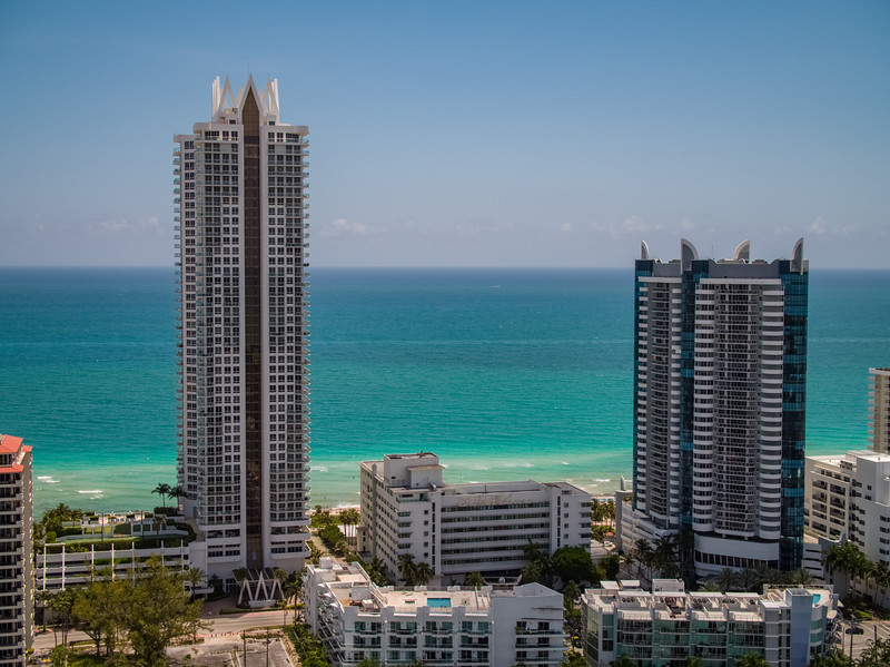 Aerial Akoya Casablanca and La Gorce Palace Miami Beach