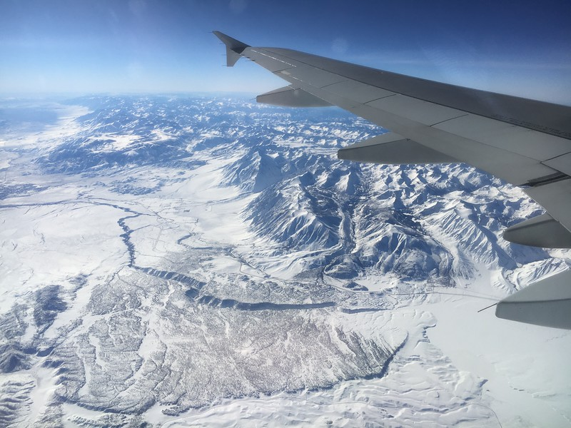 Better view of the Owens River Canyon, with the Rock Creek drainage going into the mountains on the backside of the first signs of the river canyon in the lower right of the photo.