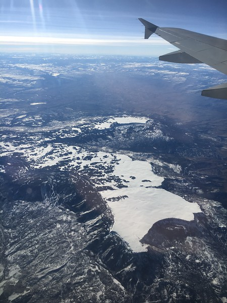 Grand Mesa and the Powderhorn Ski Resort, just east of Grand Junction, Colorado, on American flight #615, Philly to SFO