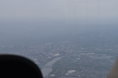 The flight from Bedford, MA to NYC was about 90 minutes, under 6,000 ft overcast with occasional rain showers.  Not the best conditions for sightseeing, but you make the best of it.  On the way we passed near Hartford, CT.