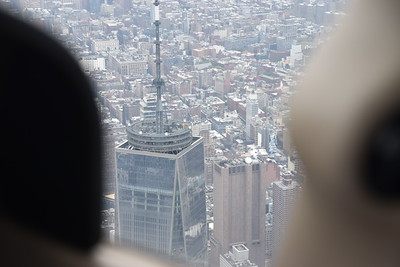 """This photo is interesting because just to the right of the """"Freedom Tower"""" is a 29 story building with no windows. The AT&T Long Lines building contains telephone switching equipment, and is allegedly used by the NSA for electronic surveillance."""