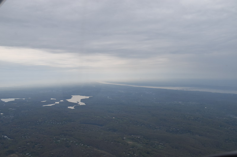 Near White Plains, NY we begin to see the Hudson River