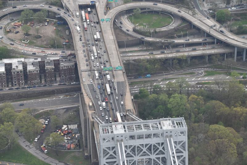 Traffic on the George Washington Bridge