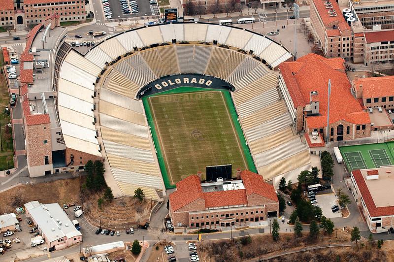 CU Buffalo Football Stadium<br /> Boulder, Colorado