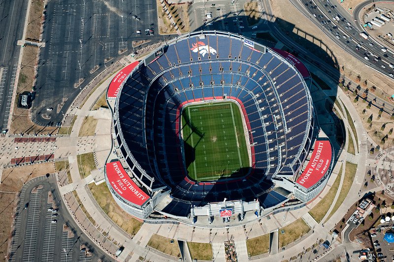 Denver Broncos Stadium<br /> Denver, Colorado<br /> Aerial Photography