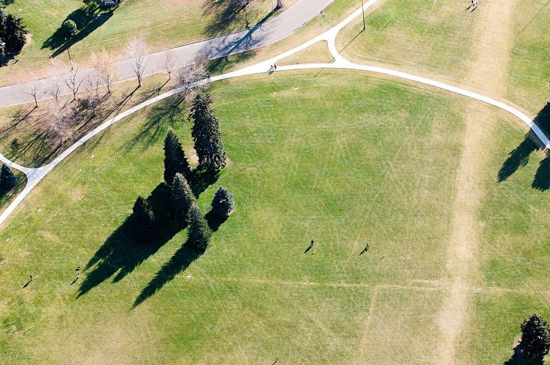 Cheesman Park Aerial Photograph<br /> Denver, Colorado
