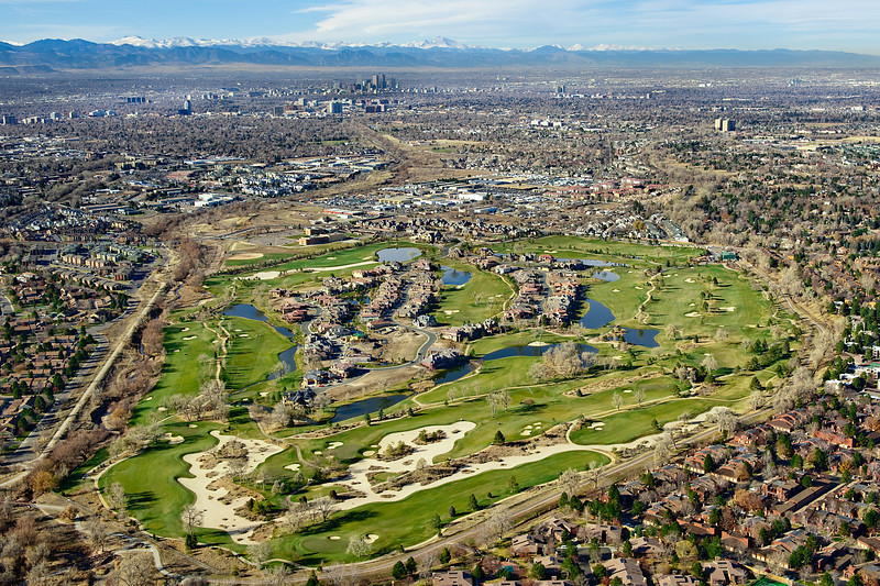 Cherry Creek Golf Course<br /> Aerial Photography<br /> Denver, Colorado