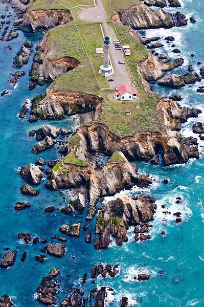Abstract Aerial Photography<br /> Northern California Coastline<br /> Eureka, California
