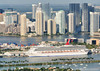 Port of Miami and downtown view