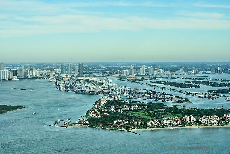 Fisher Island and Port of Miami