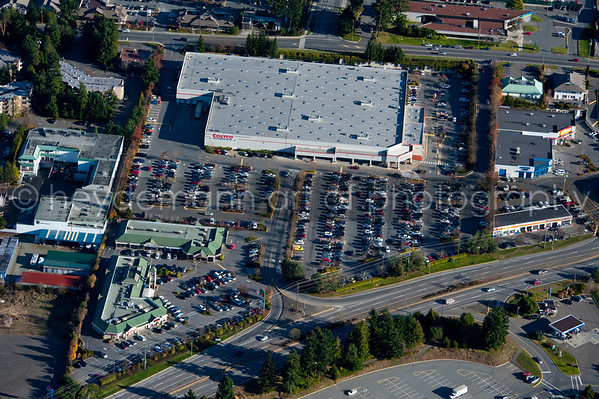 Aerials of Cost-co Nanaimo