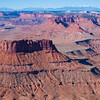 Ecker Butte with the Henry Mountains - Canyonlands National Park, Utah
