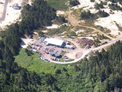 Taken 2005 by Richard Felley. CARTM Recycling, a nonprofit organization, began operating the transfer station in 1999. The light green area toward the lower left shows the previous dumping field.