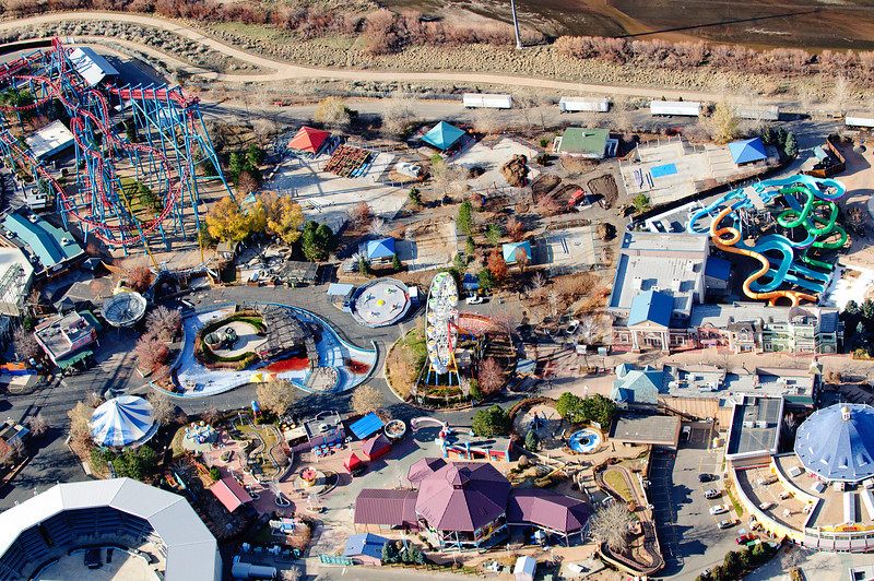 Elitch Gardens Aerial Photograph<br /> Denver, Colorado