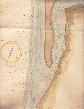 Hydrographic map of lower Nehalem Bay prepared by U S Coast Survey in 1891.