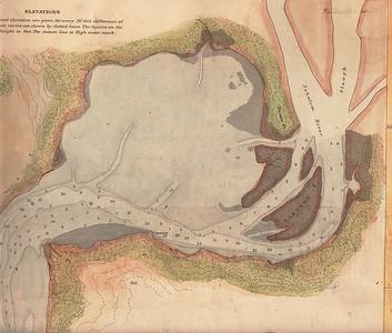 Hydrographic map of upper Nehalem Bay prepared by U S Coast Survey in 1891.