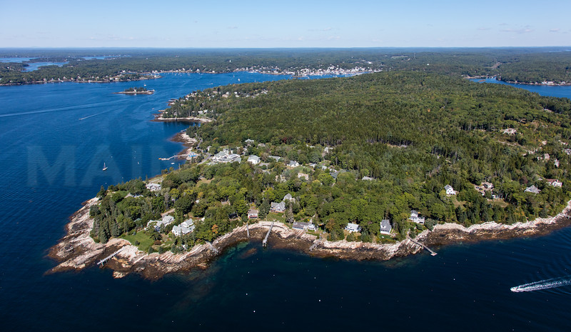 MIP AERIAL SPRUCE POINT BOOTHBAY HARBOR MAINE-6664