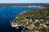 MIP AERIAL SPRUCE POINT BOOTHBAY HARBOR MAINE-6627