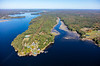 MIP AERIAL KENNEBEC RIVER CHOP POINT WOOLWICH MAINE-8634