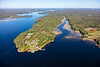 MIP AERIAL KENNEBEC RIVER CHOP POINT WOOLWICH MAINE-8635