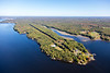 MIP AERIAL KENNEBEC RIVER CHOP POINT WOOLWICH MAINE-8630