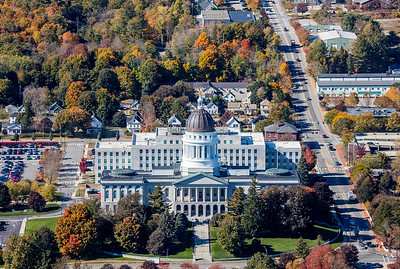 MIP AERIAL AUGUSTA STATE CAPITAL BUILDING MAINE-6752