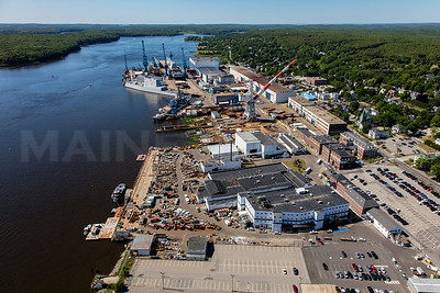 MIP AERIAL BATH IRON WORKS CHRISTENING BATH MAINE-3921