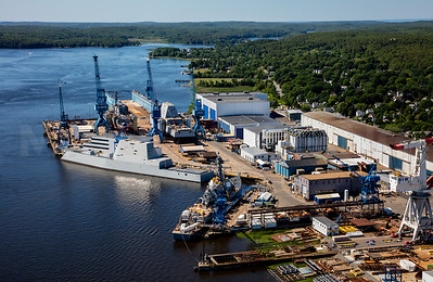 MIP AERIAL BATH IRON WORKS CHRISTENING BATH MAINE-3918