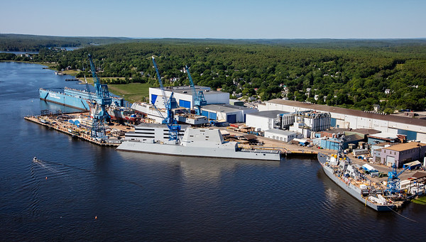 MIP AERIAL BATH IRON WORKS CHRISTENING BATH MAINE-3911