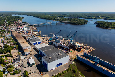 MIP AERIAL BATH IRON WORKS CHRISTENING BATH MAINE-3928