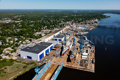 MIP AERIAL BATH IRON WORKS CHRISTENING BATH MAINE-3936