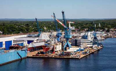 MIP AERIAL BATH IRON WORKS CHRISTENING BATH MAINE-3888
