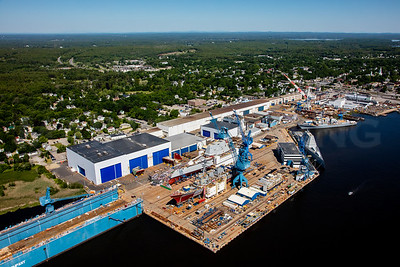 MIP AERIAL BATH IRON WORKS CHRISTENING BATH MAINE-3941