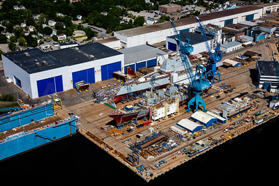 MIP AERIAL BATH IRON WORKS CHRISTENING BATH MAINE-3942