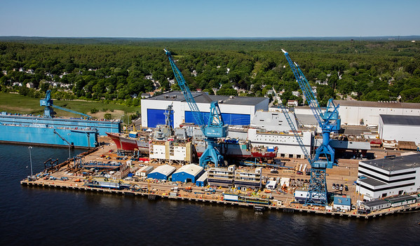 MIP AERIAL BATH IRON WORKS CHRISTENING BATH MAINE-3907