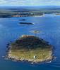 Wood Island Lighthouse, Wood Island, Negro Island, Stage Island, basket Island.  Biddeford, Maine.