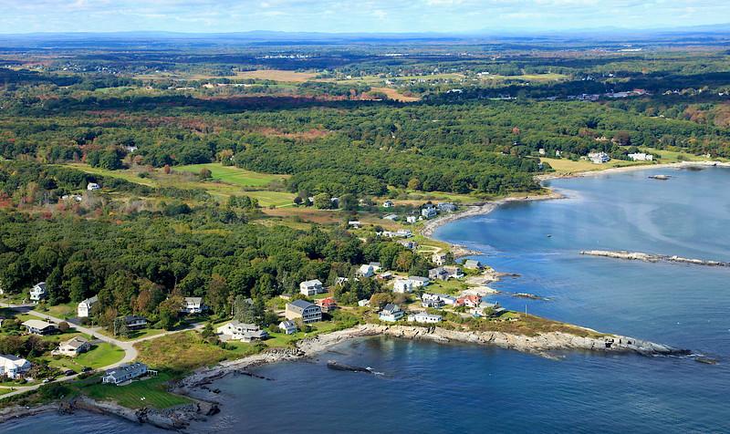 Peabbles Point, Whaleback Rock, Alewife Cove.  Cape Elizabeth, Maine.