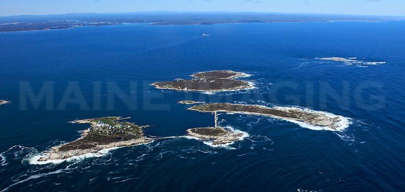Star Island (New Hampshire), Cedar Island, Smuttynose Island, Appledore Island, Duck Island (Maine).  Isles of Shoals.