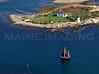 Goat Island Light and Sailboat 1.  Kennebunkport, Maine.